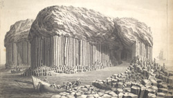 View of the Basaltic Columns of the Island of Staffa